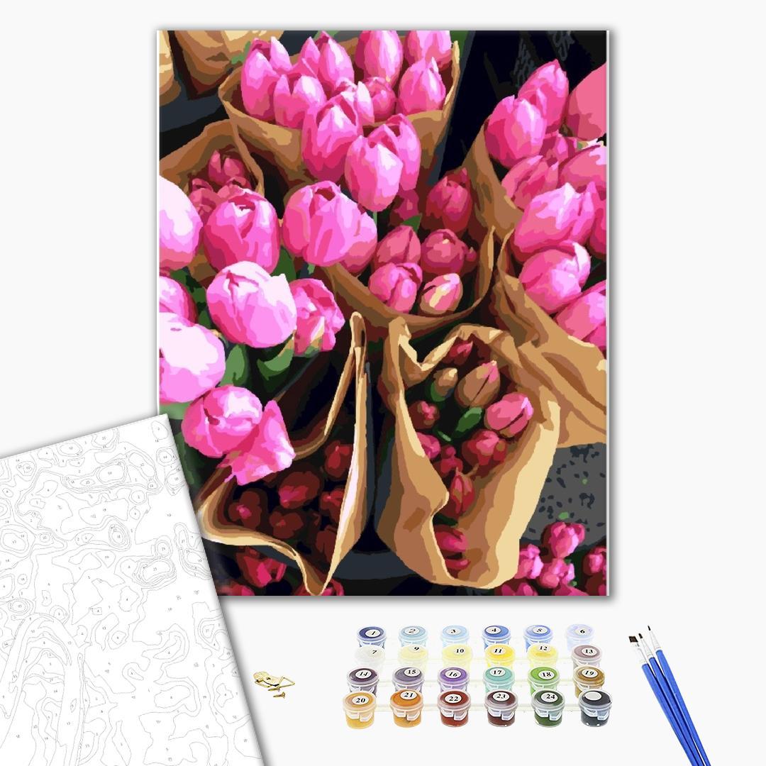 Картина по номерам Цветы - Голландські тюльпани
