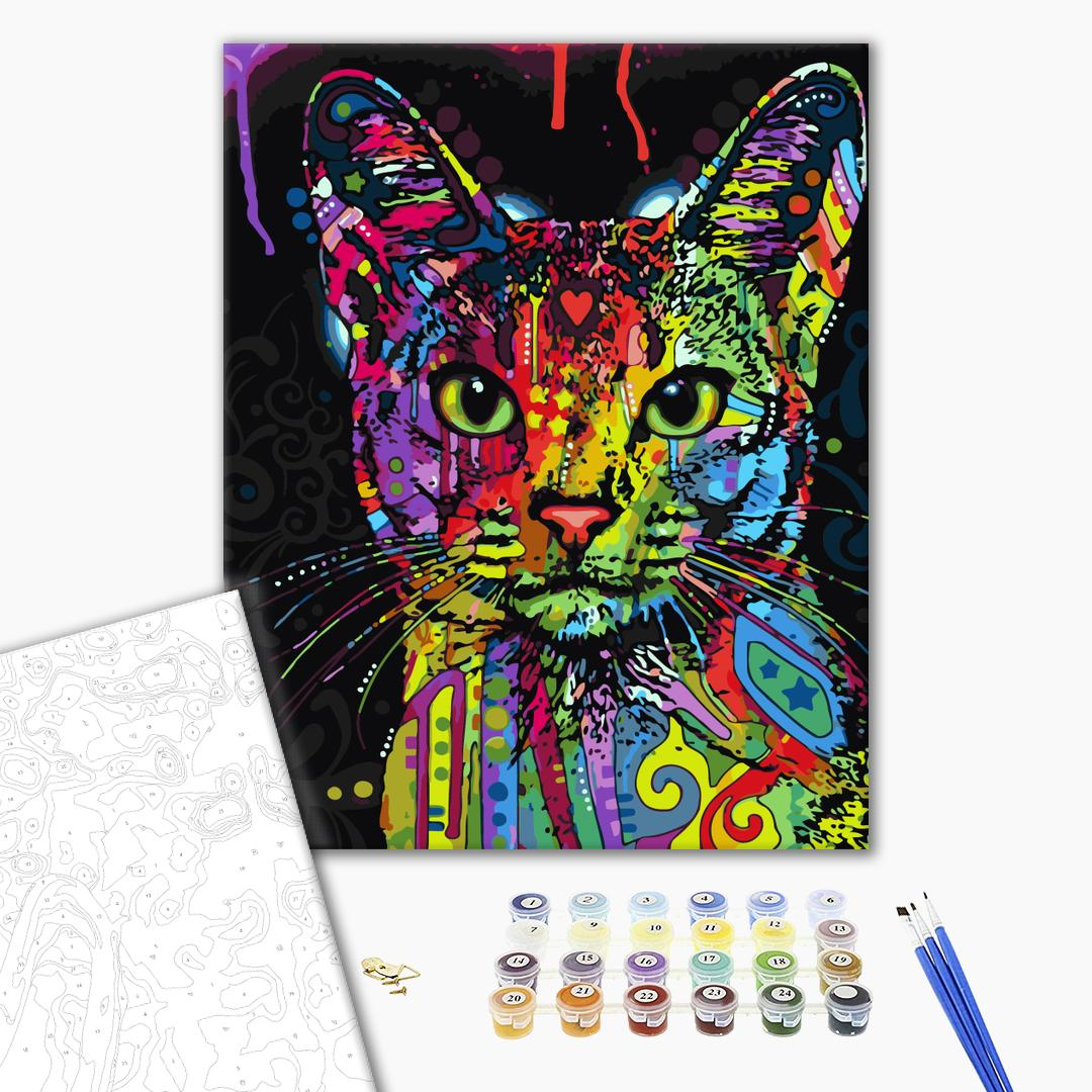 Картина по номерам Животные, птицы и рыбы - Абісинська кішка