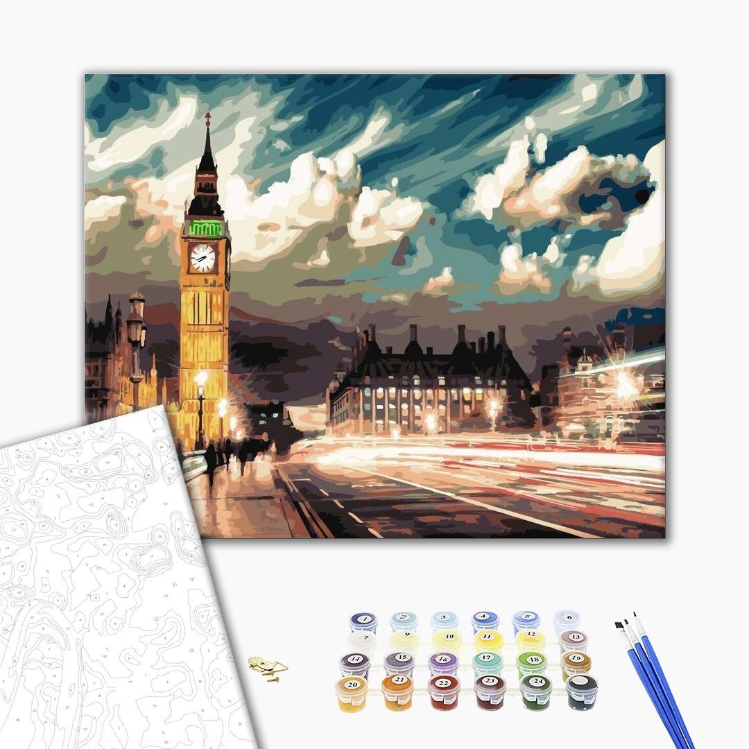 Картина по номерам Города - Сутінки над Лондоном
