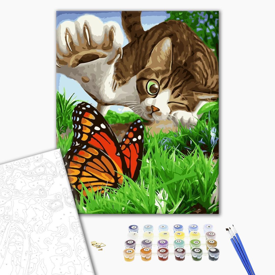 Картина по номерам Животные, птицы и рыбы - Пушистый охотник