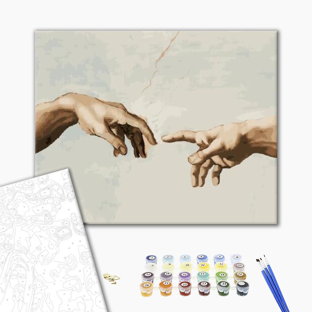 Картина по номерам Репродукции художников - Создание адама