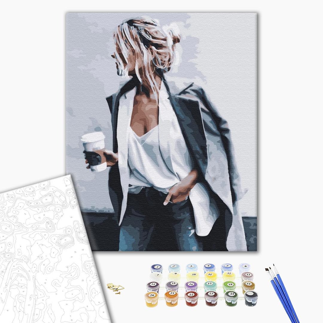 Картина по номерам Люди на картинах - Перерва на каву