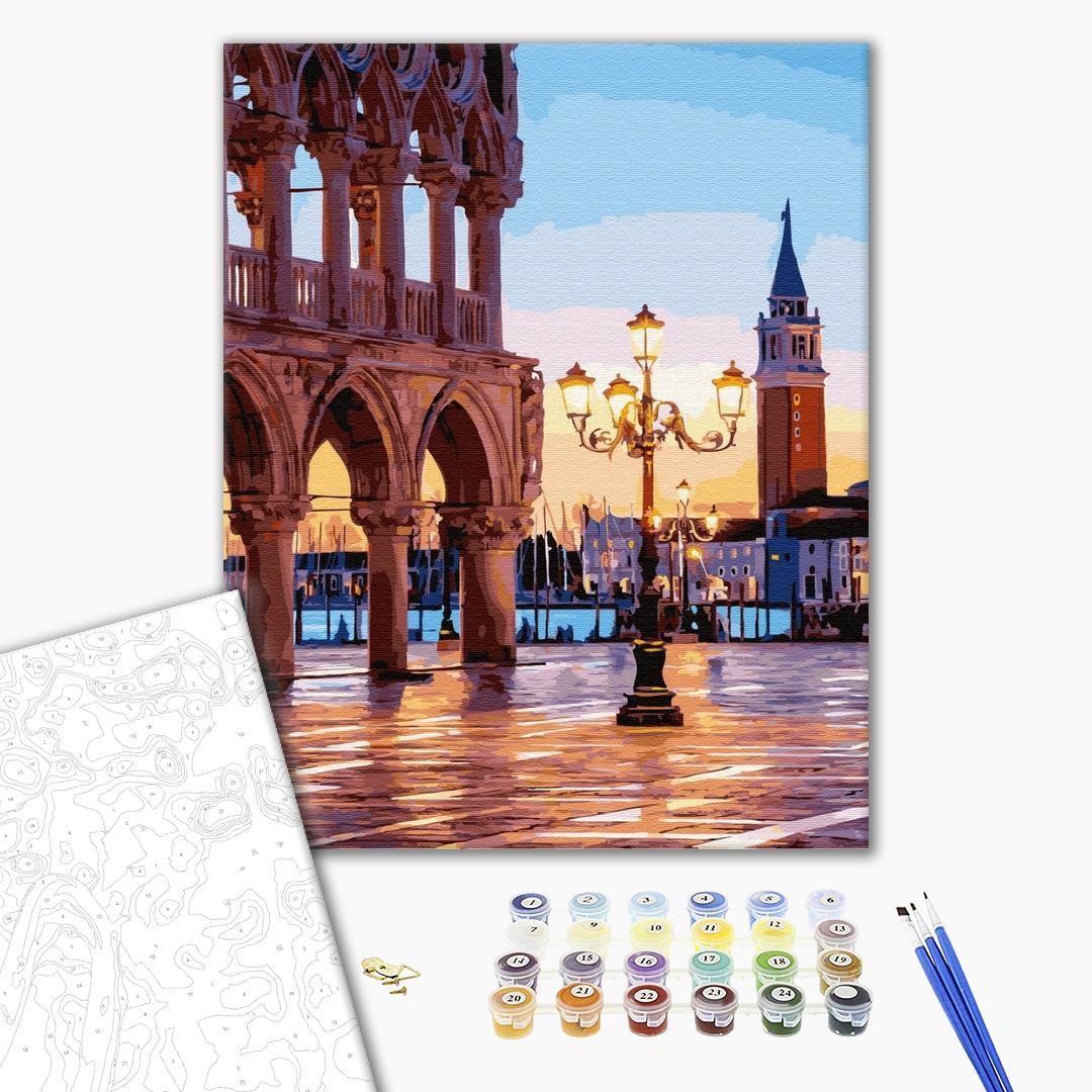 Картина по номерам Города - Вечерняя площадь Венеции