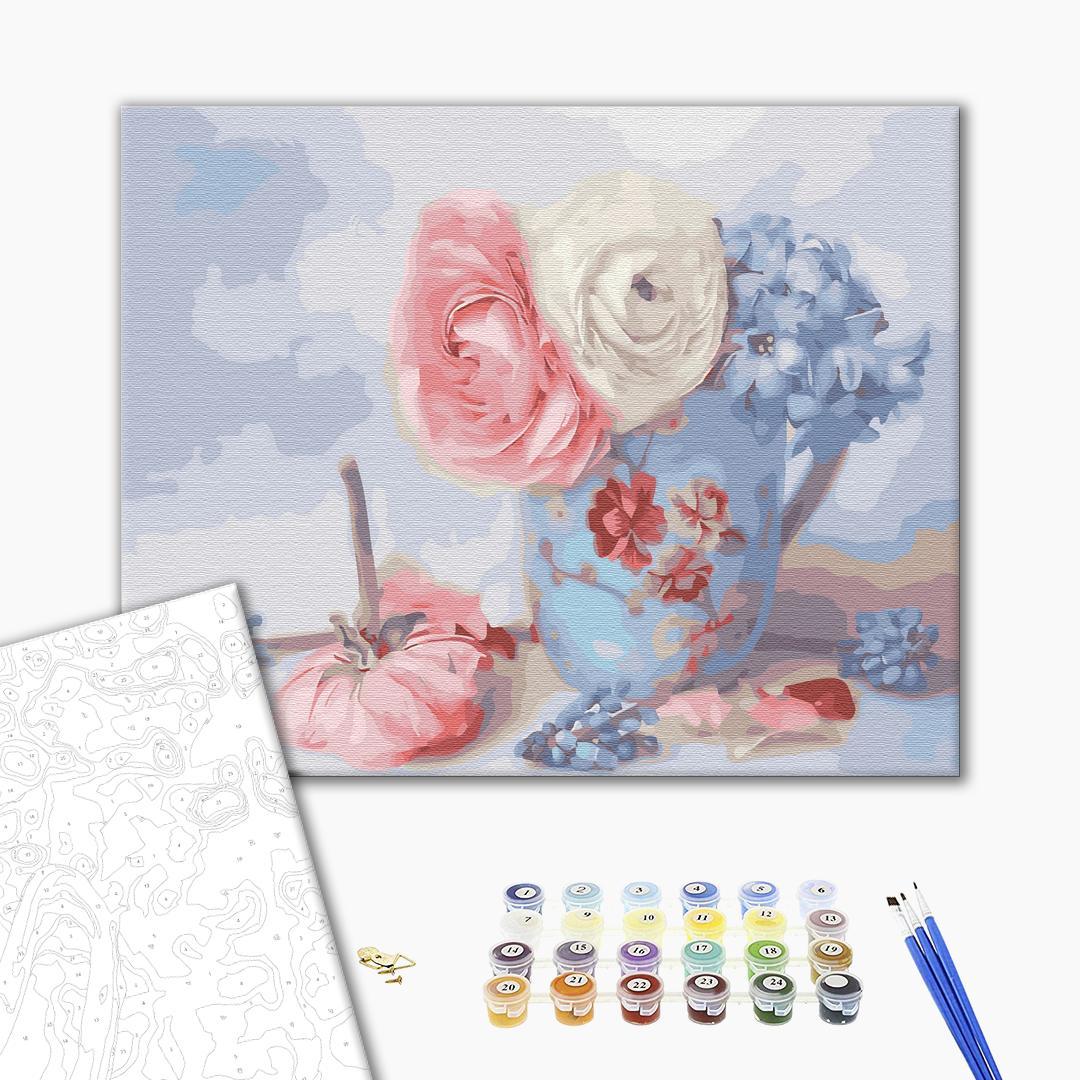 Картина по номерам Для начинающих - Ніжні квіти