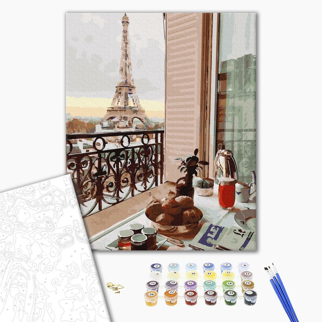 Картина по номерам Города - Десерт в Парижі