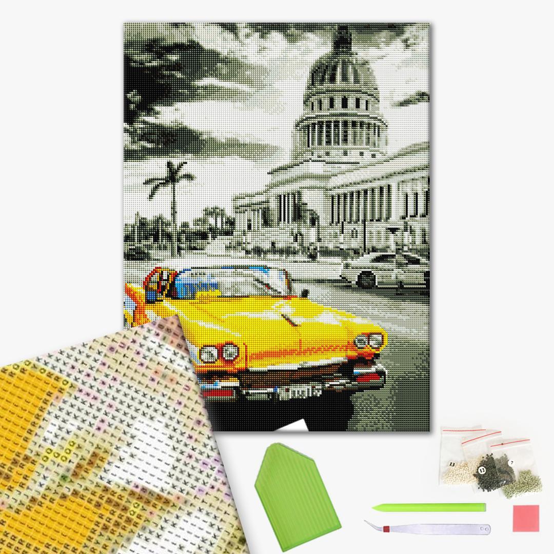 Алмазная мозаика 40х50 - Кубинське ретро