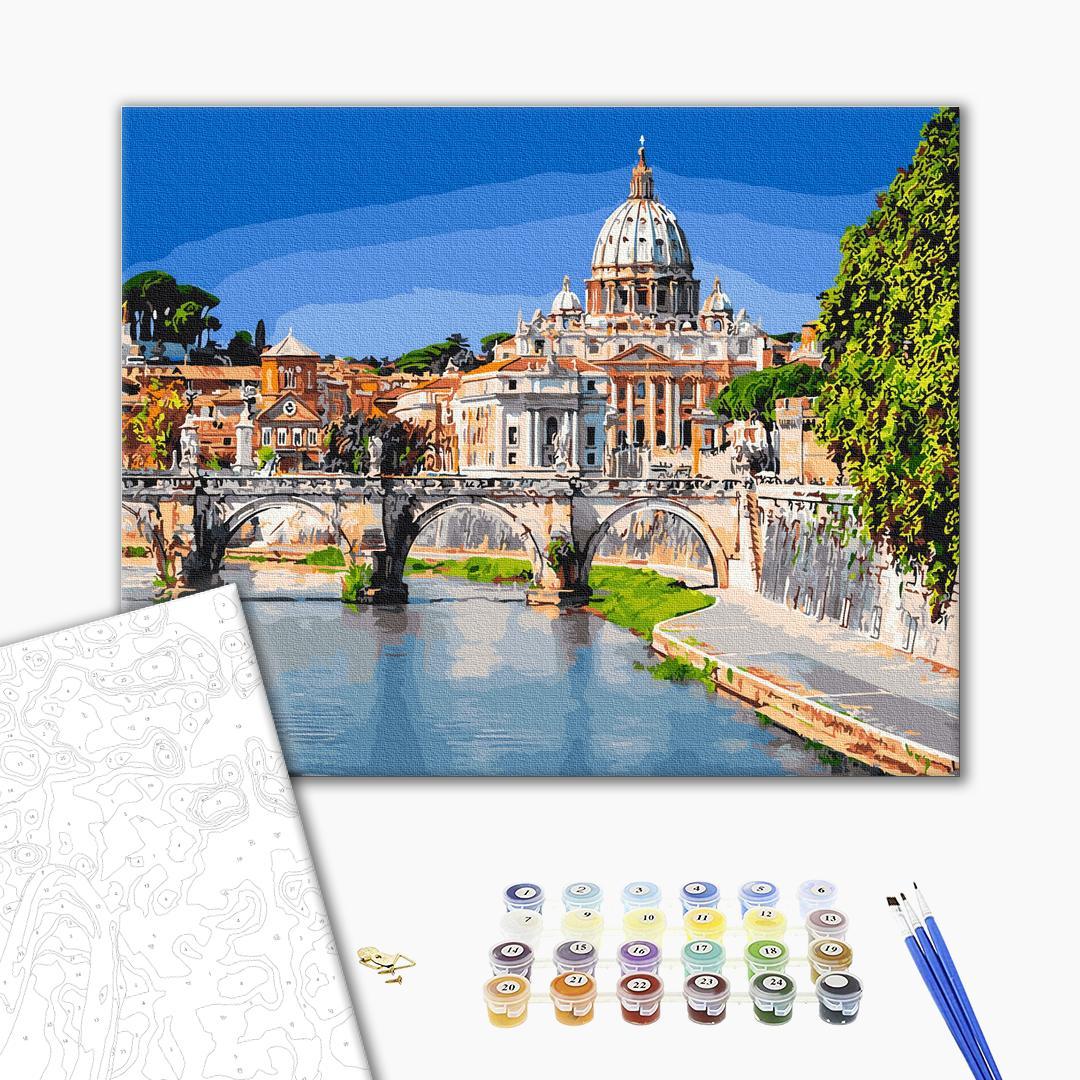 Картина по номерам Города - Базиліка святого Петра