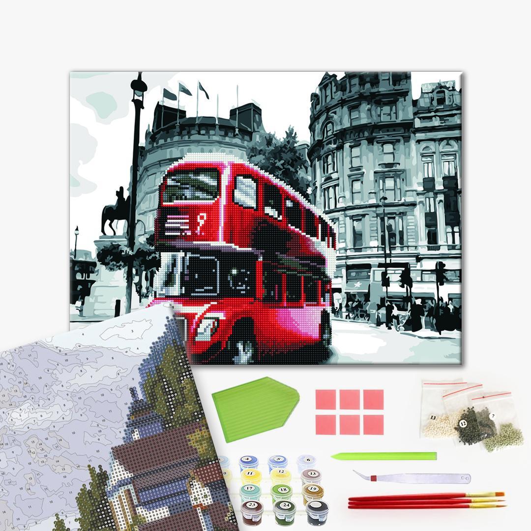 Алмазные картины-раскраски - Автобус Лондона