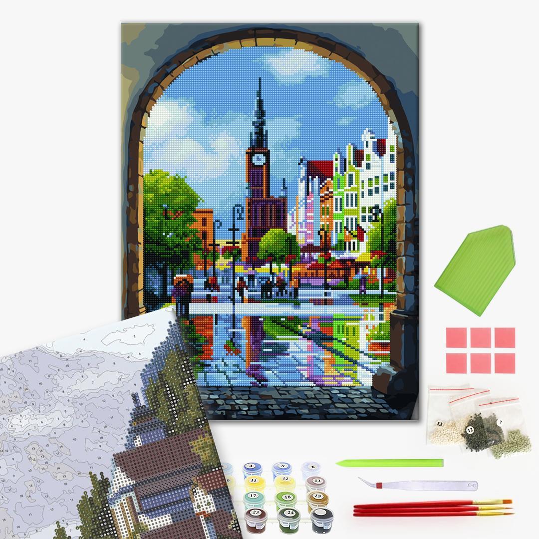 Алмазные картины-раскраски - Вікно в Європу