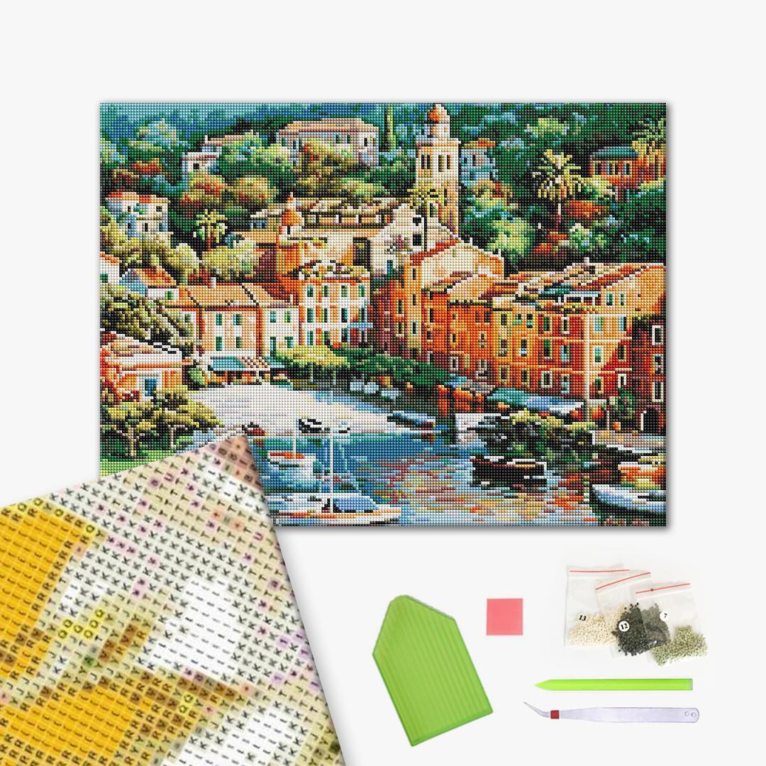 Алмазная мозаика 40х50 - Вид на місто
