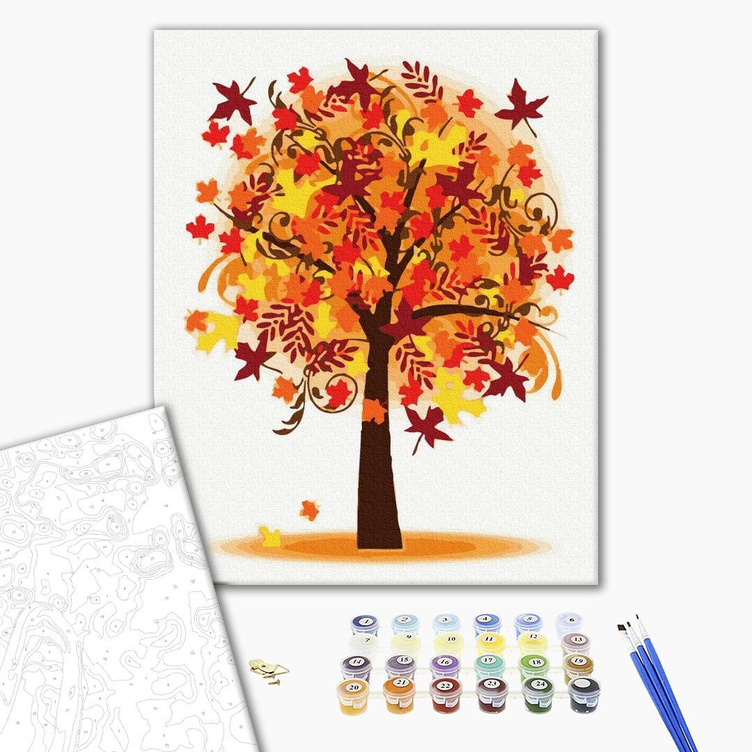 Картина по номерам Пейзажи - Осінне дерево