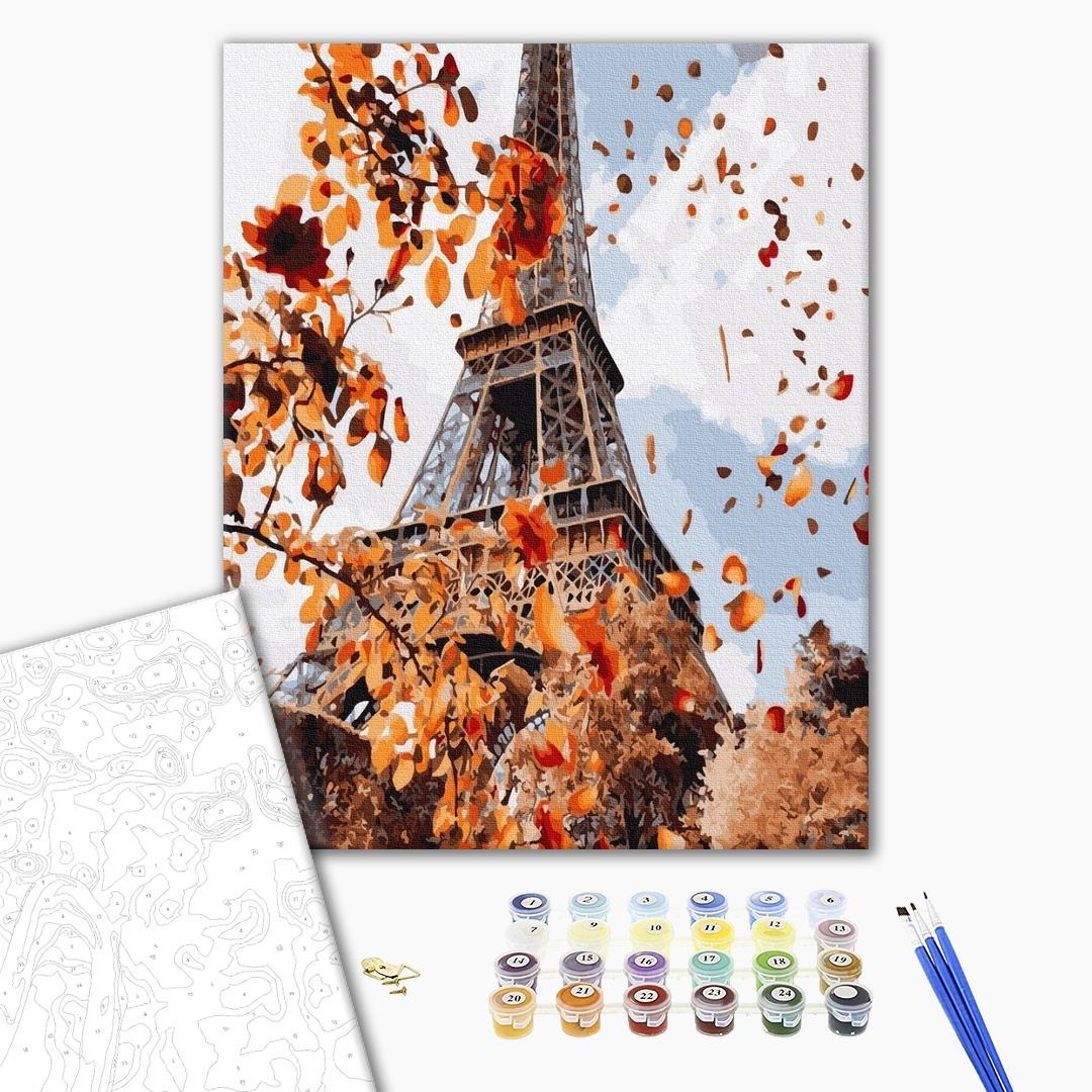 Картина по номерам Города - Осінь в Парижі
