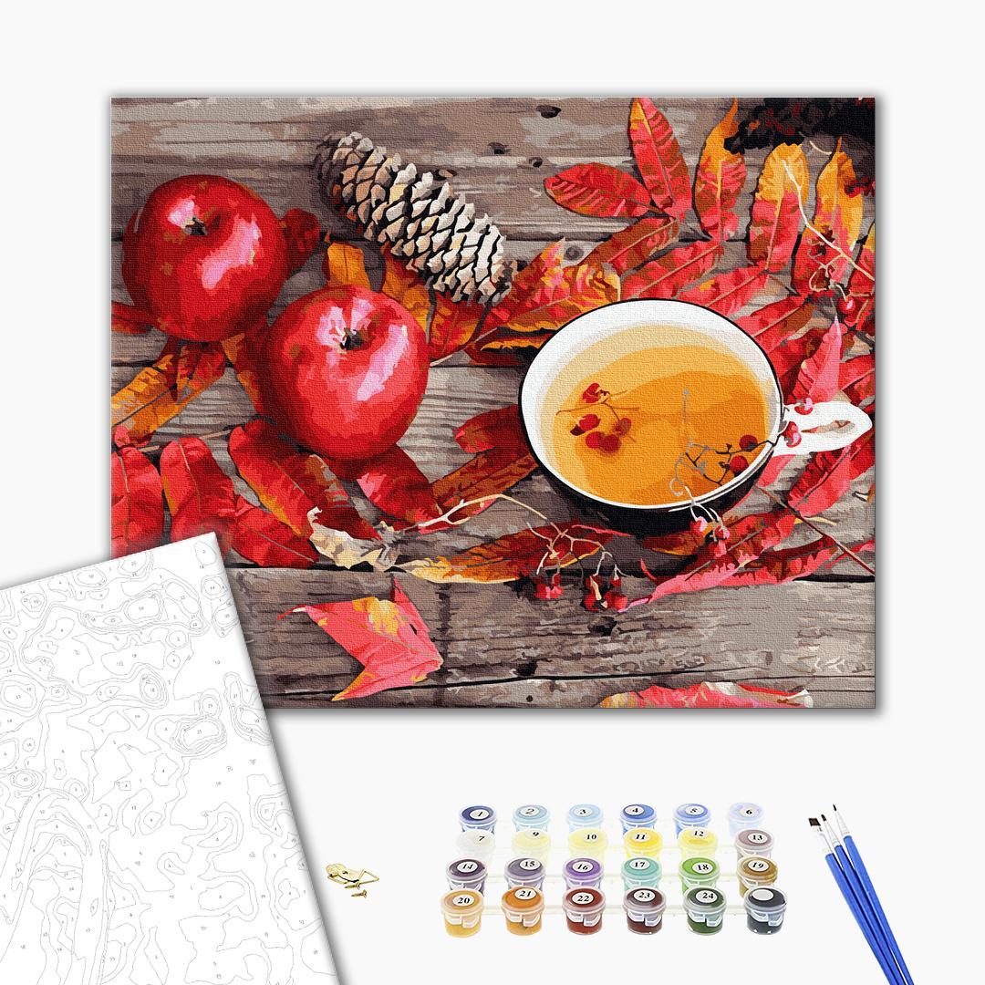 Картина по номерам Натюрморты - Чай з осінніми дарами