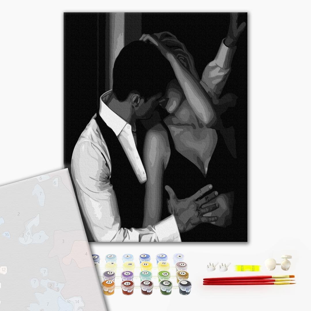 Картина по номерам ПРЕМИУМ картины - В обіймах пристрасті