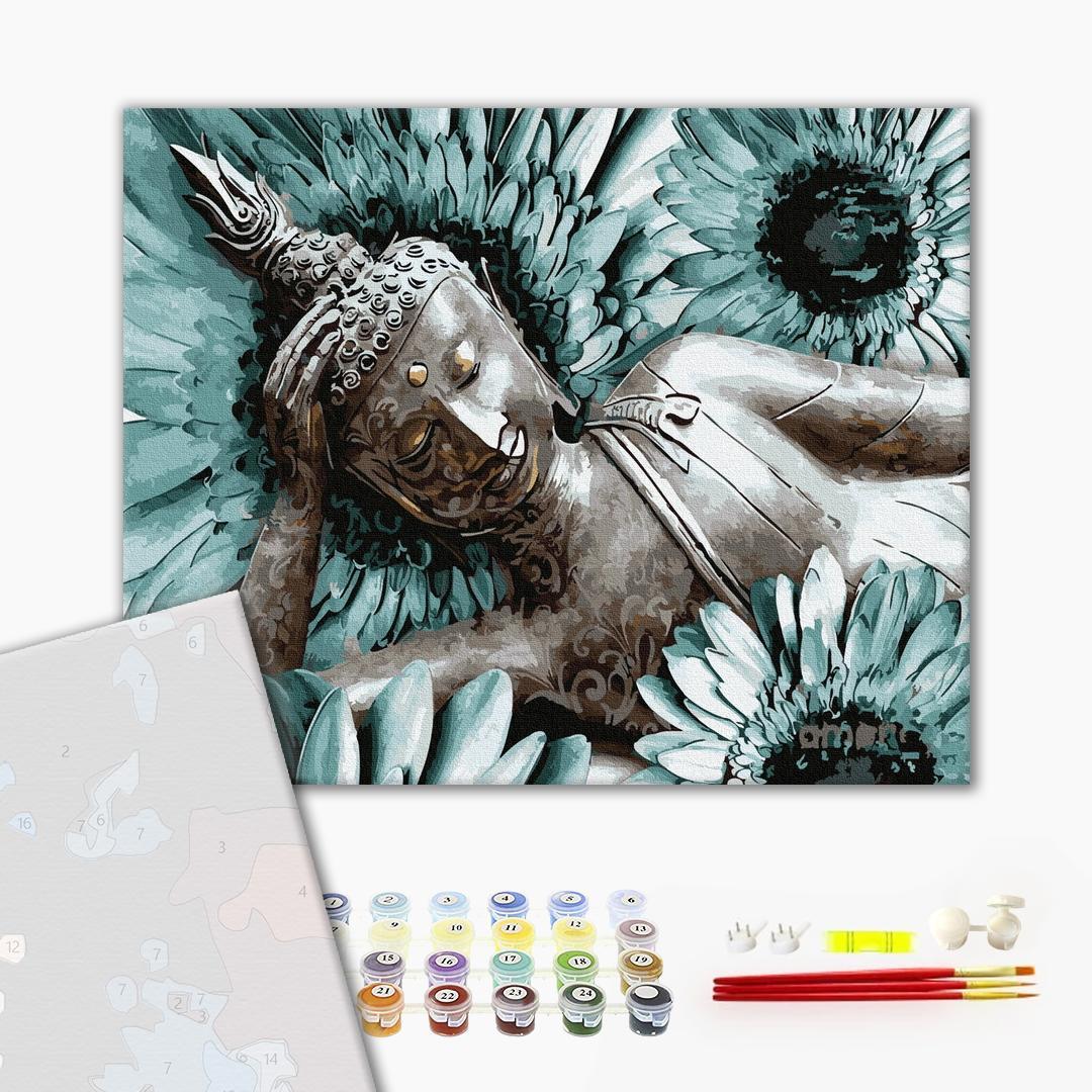 Картина по номерам ПРЕМИУМ картины - Будда медитация
