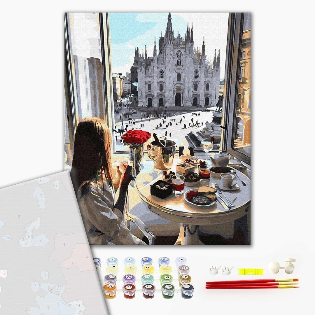 Картина по номерам Лицензия_Премиум - Завтрак в Милане
