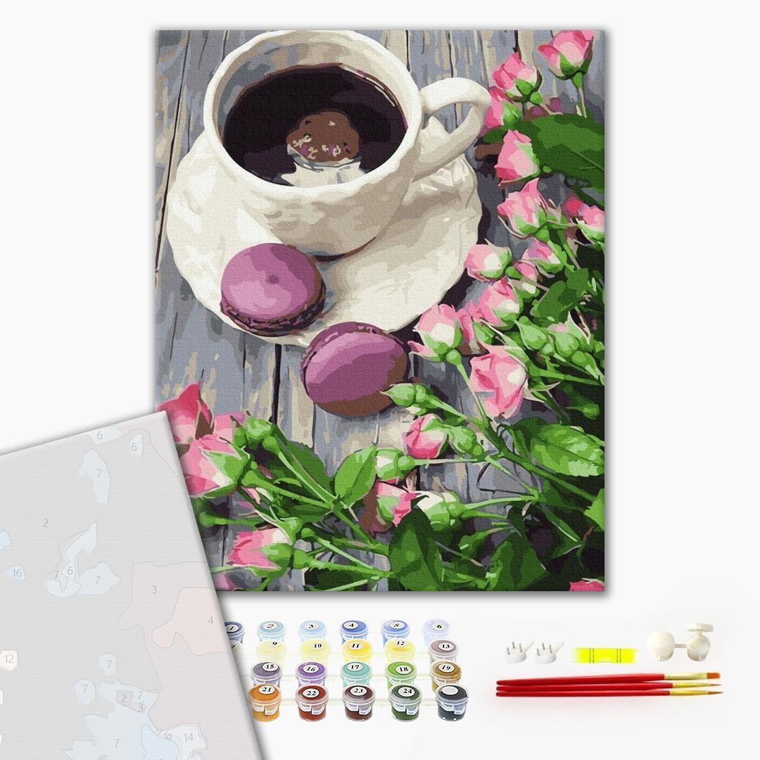 Картина по номерам ПРЕМИУМ картины - Кофе со вкусом весны