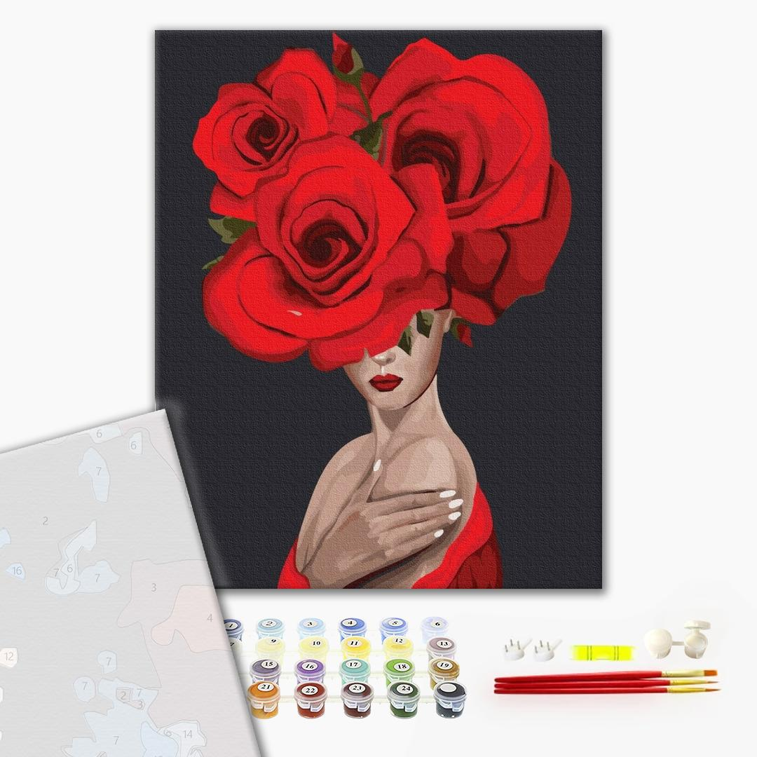 Картина по номерам ПРЕМИУМ картины - Королева троянд