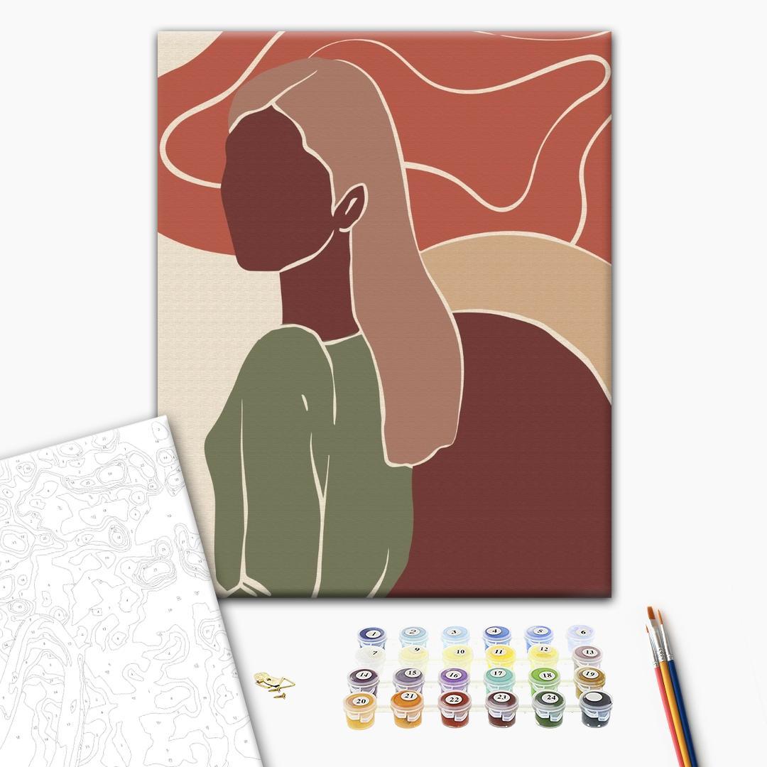 Картина по номерам Уникальные сюжеты - Триптих пастельный арт