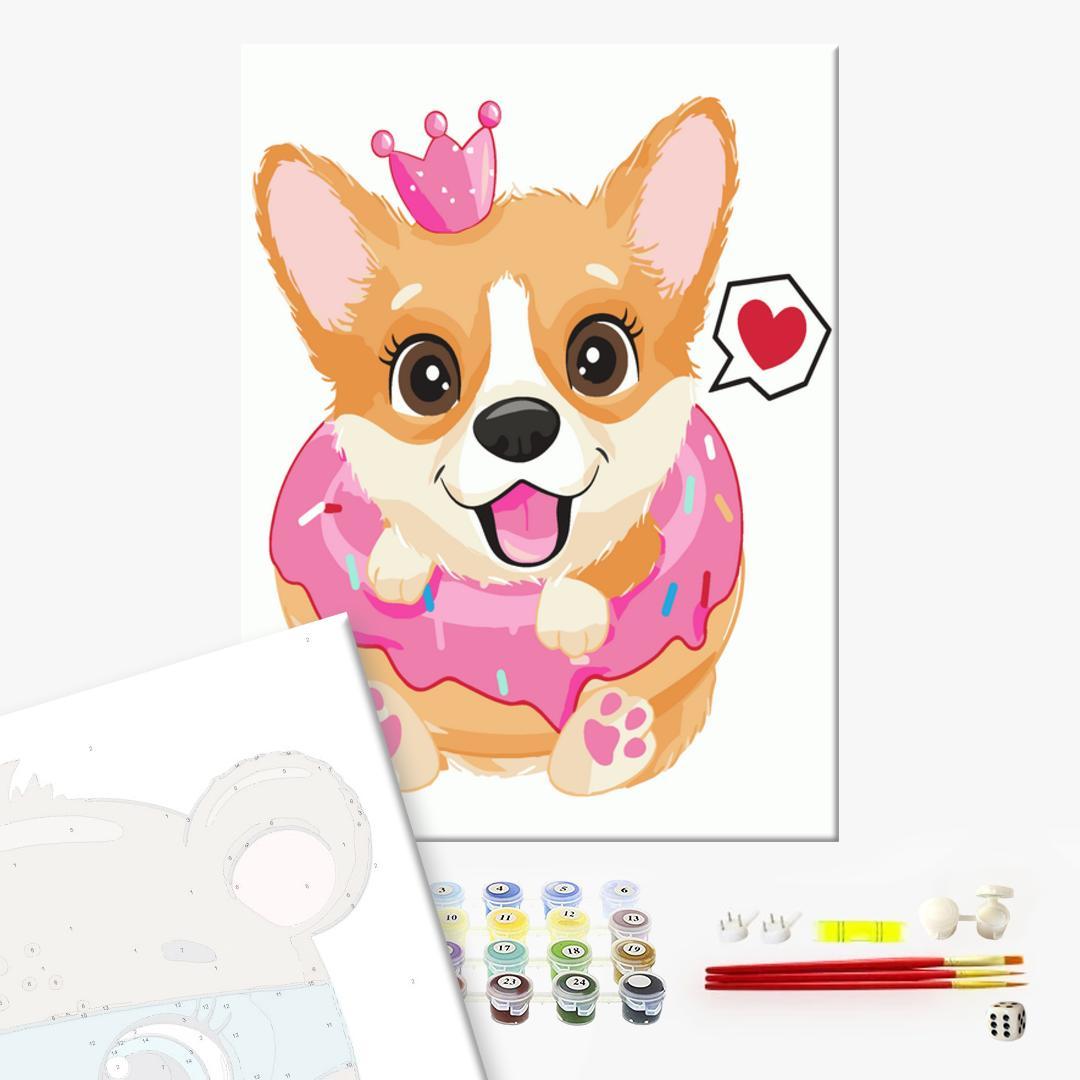 Картина по номерам KIDS - Принцесса корги