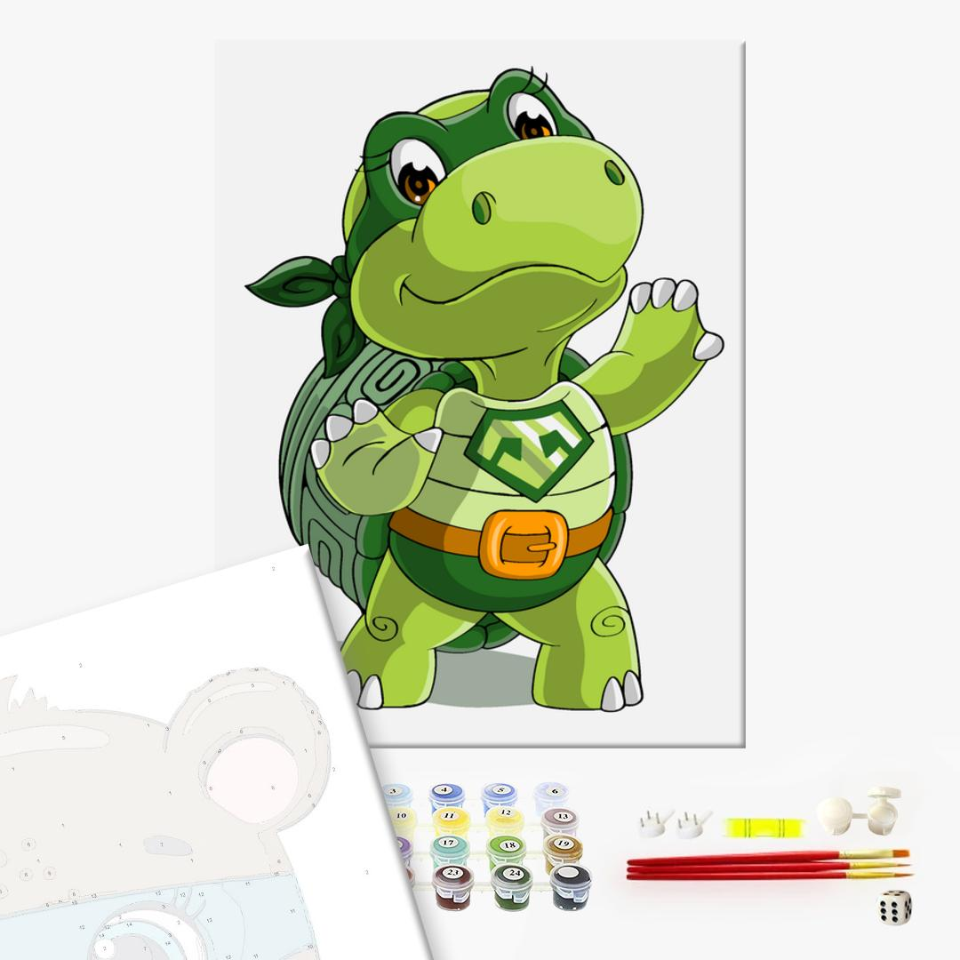 Картина по номерам KIDS - Черепашка ниндзя