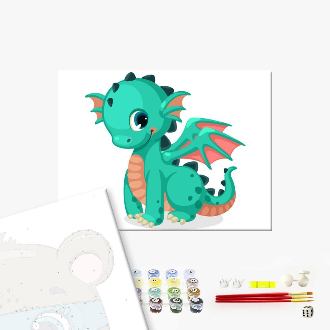 Картина по номерам KIDS - Милый дракоша