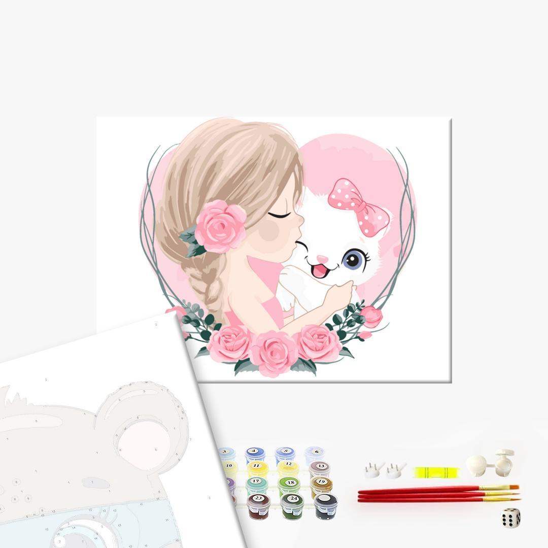 Картина по номерам KIDS - Кошкина любовь