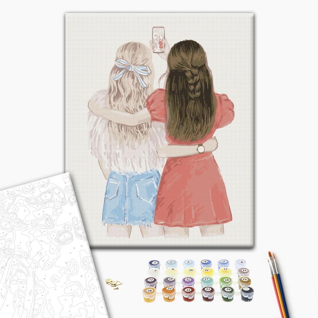 Картина по номерам Для начинающих - Селфі подружок