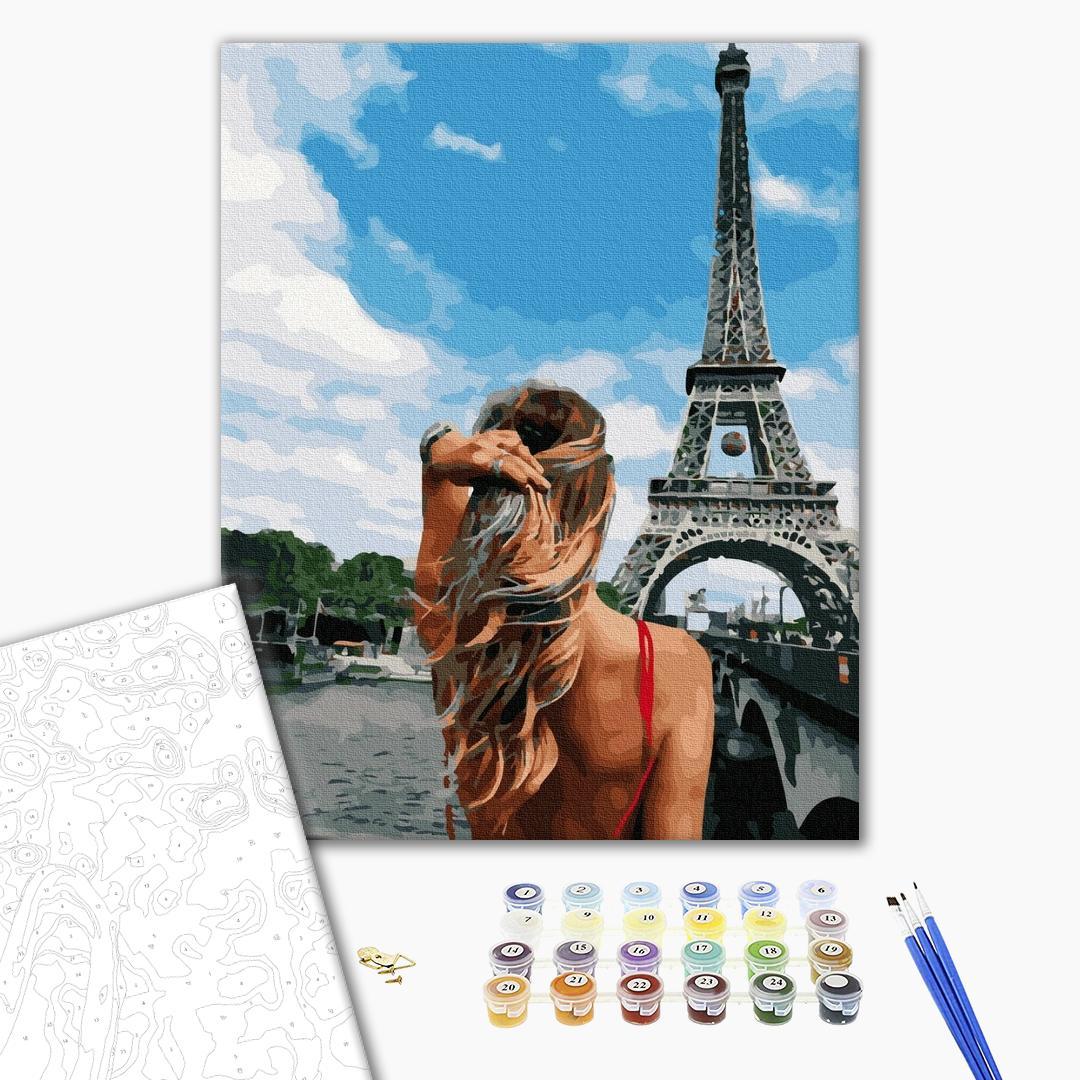 Картина по номерам Люди на картинах - Красуня в Парижі