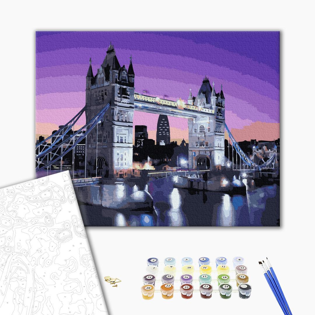 Картина по номерам Города - Рассвет на Тауэрском мосту