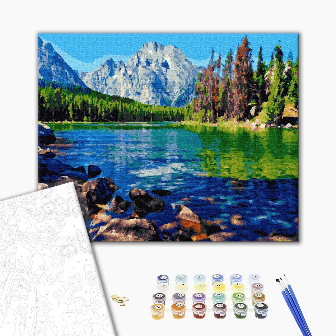 Картина по номерам Природа - Горный пейзаж
