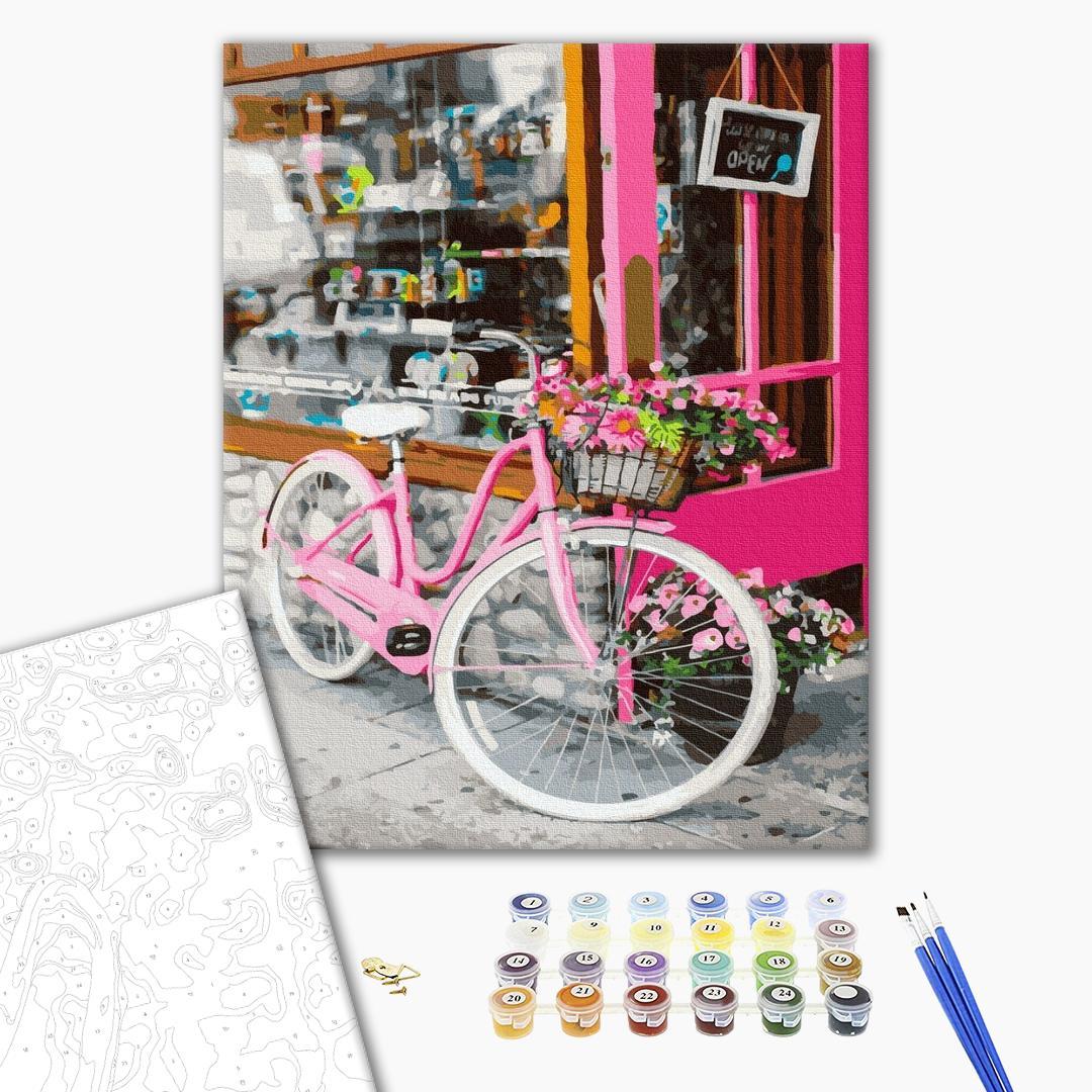 Картина по номерам Города - Велосипед на улице Парижа