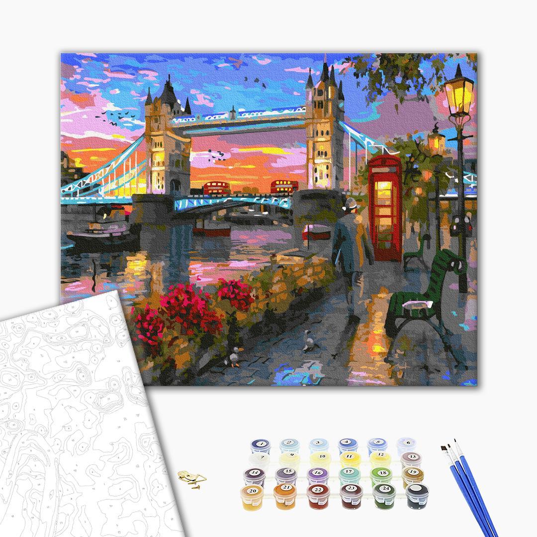 Картина по номерам Города - Осінь в Лондоні