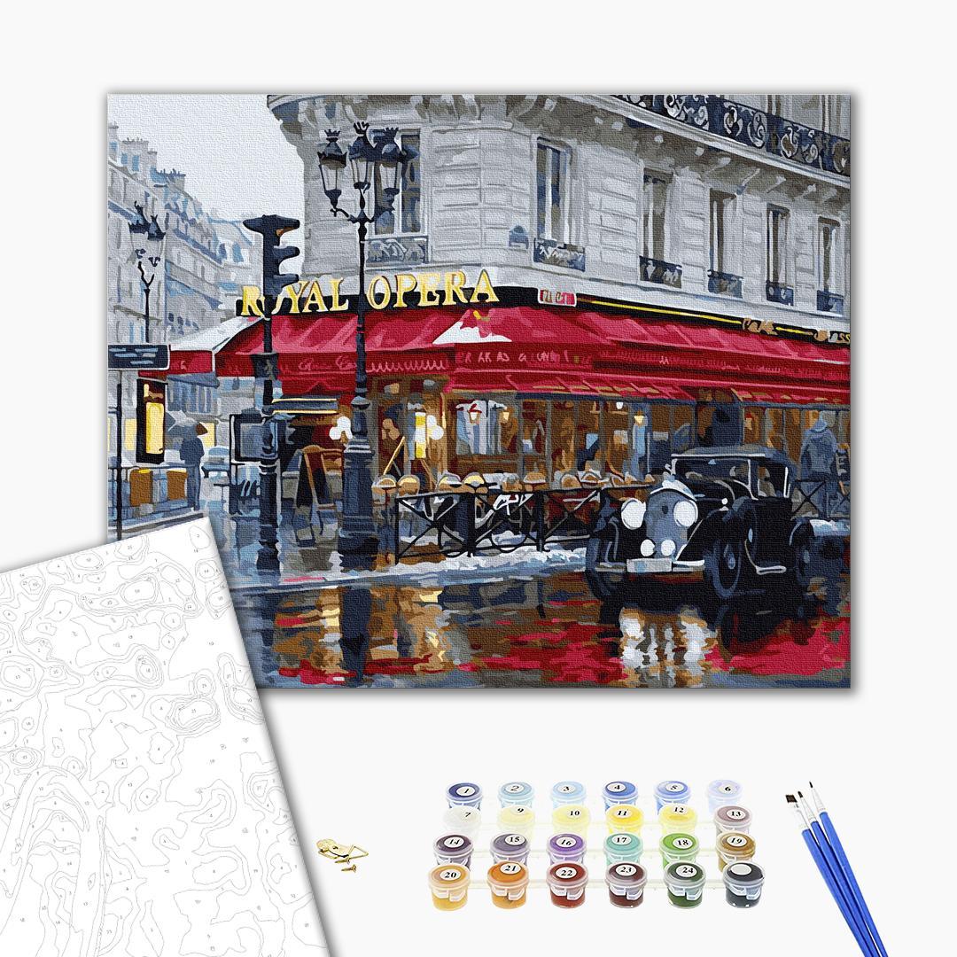 Картина по номерам Города - Паризьке кафе