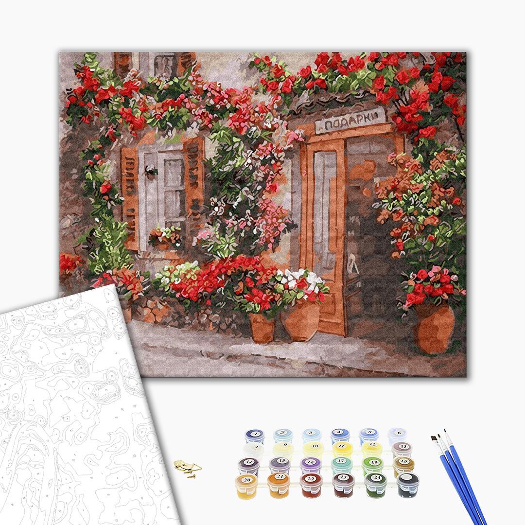 Картина по номерам Города - Цветочная улица