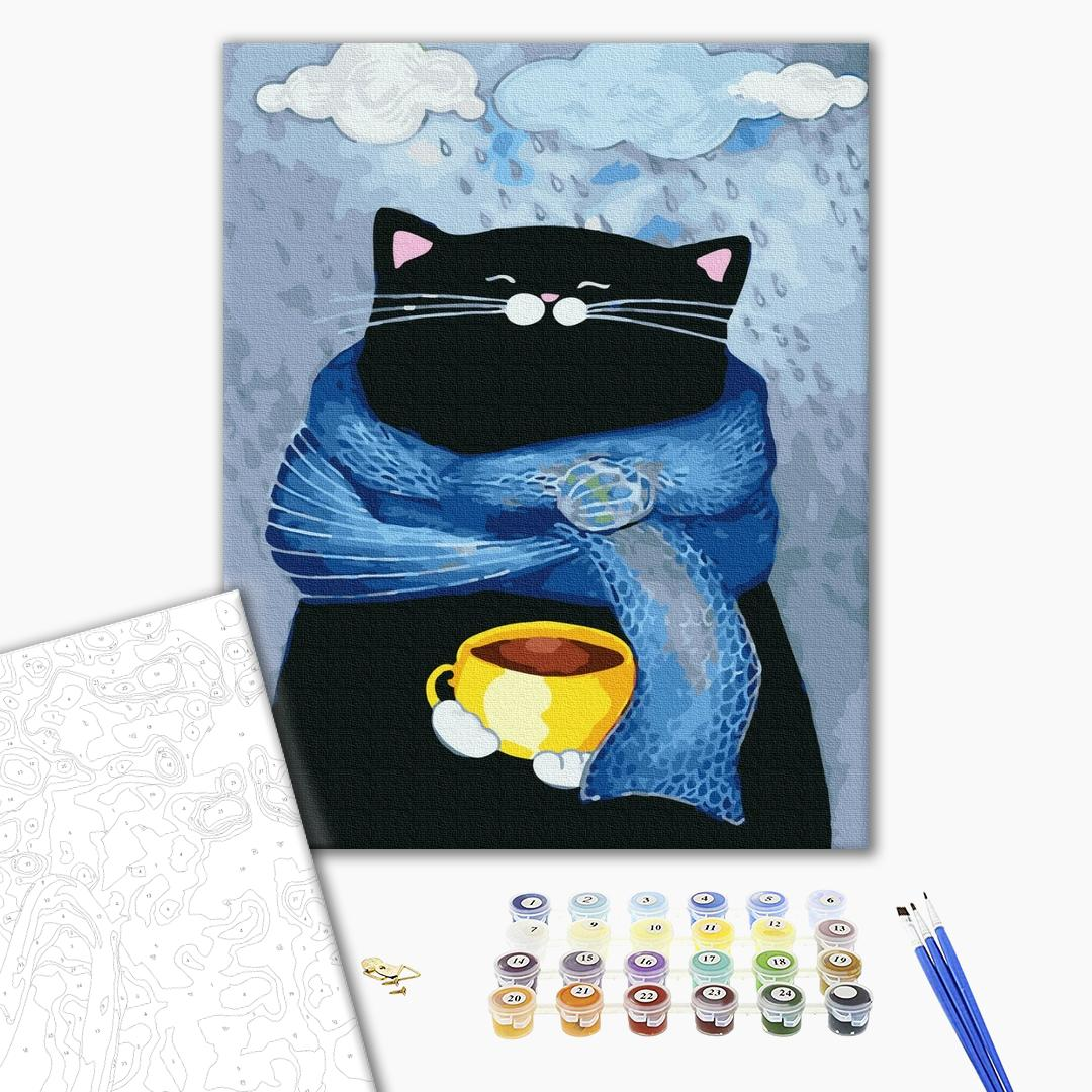 Картина по номерам Для начинающих - Осенний кот