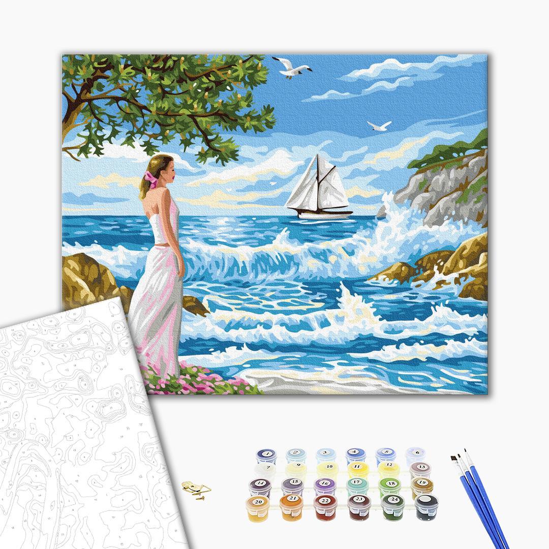 Картина по номерам Люди на картинах - Очікування біля моря