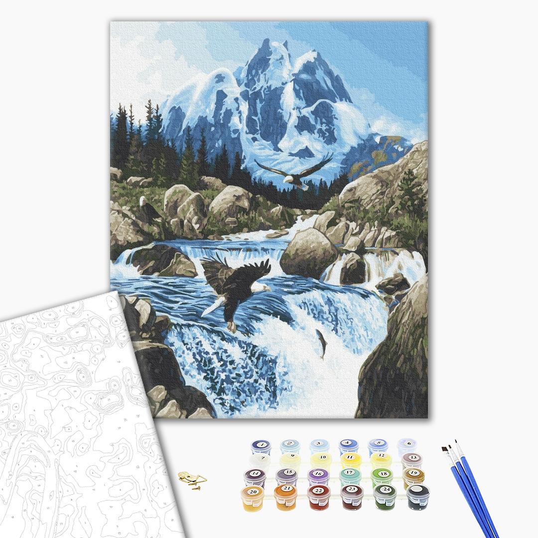 Картина по номерам Природа - Холодное горный источник