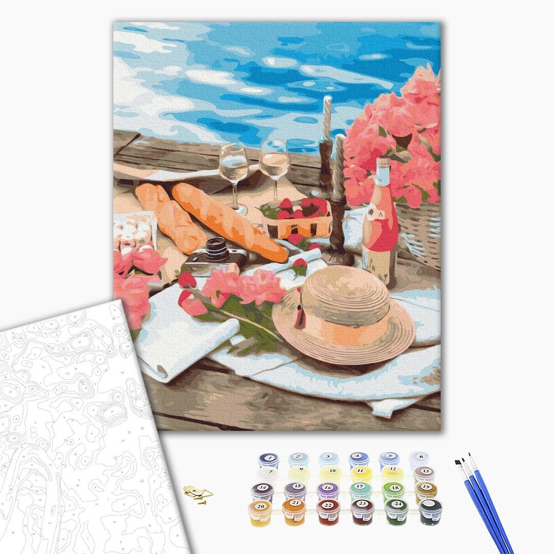 Картина по номерам Уникальные сюжеты - Пікнік поруч з морем