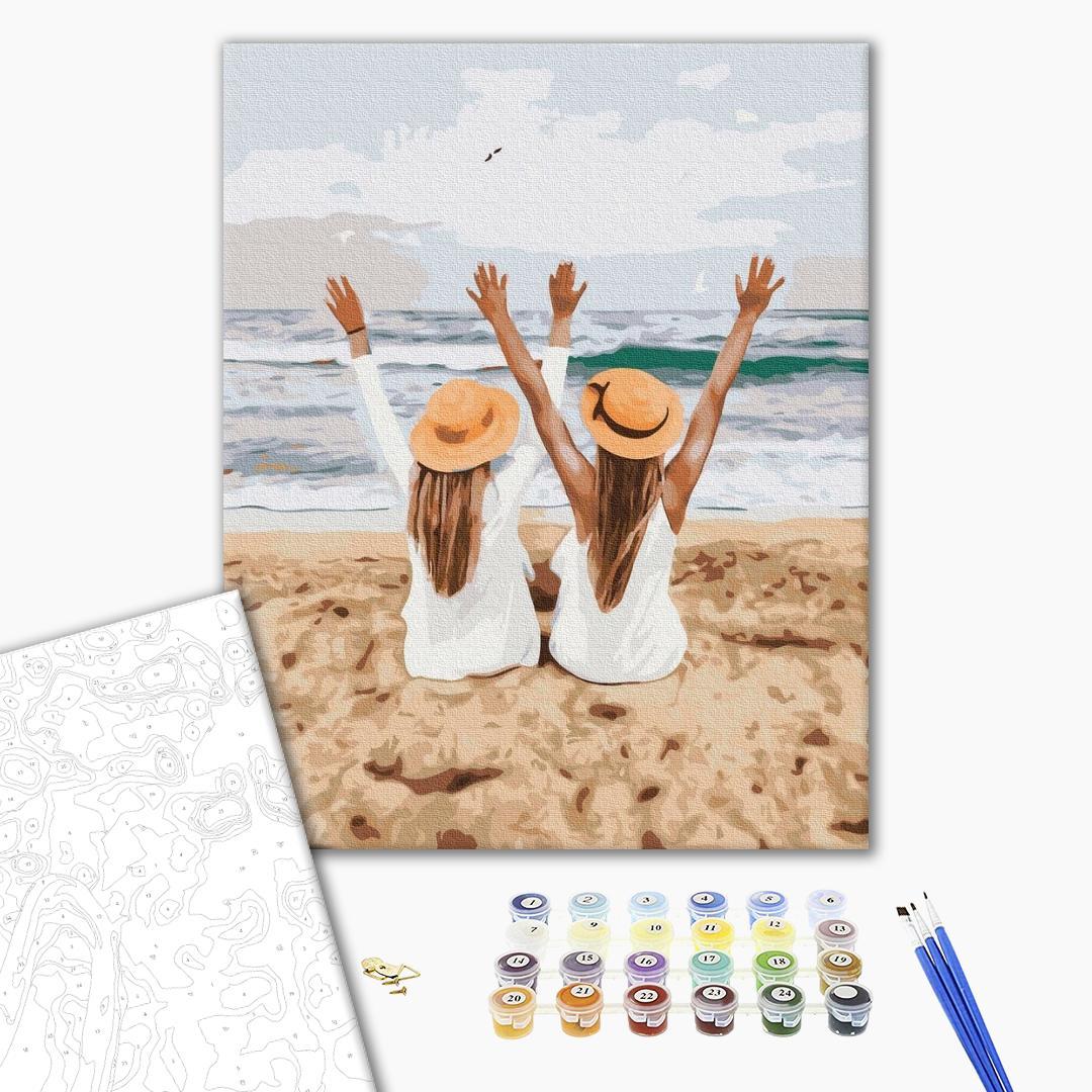 Картина по номерам Природа - Подружки на море