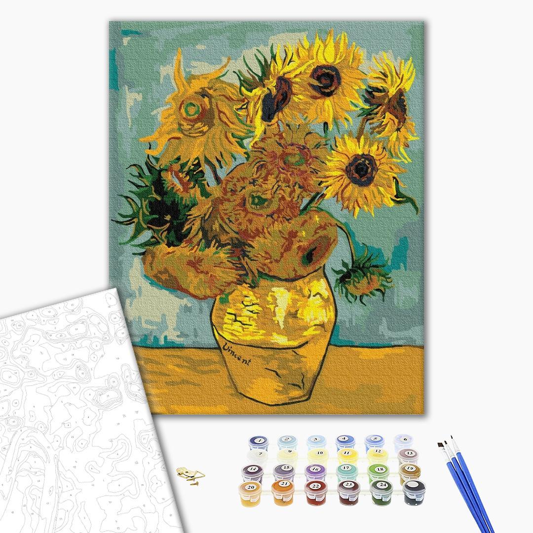 Картина по номерам Репродукции художников - Подсолнухи. Ван Гог