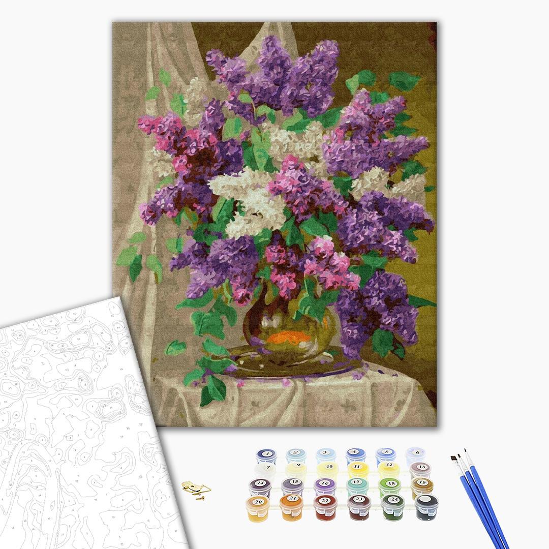 Картина по номерам Цветы - Разноцветный сирень