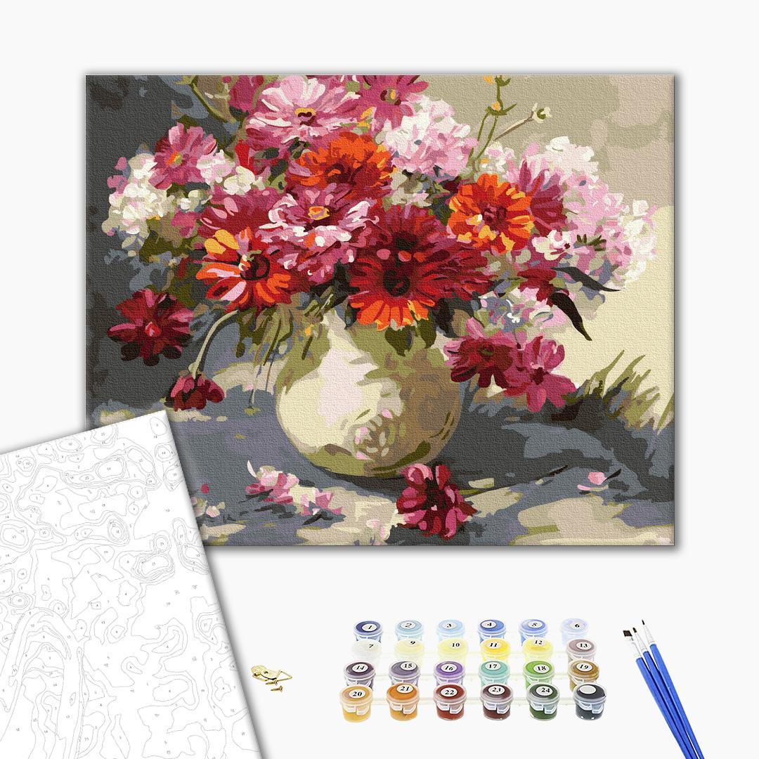 Картина по номерам Цветы - Букет ярких маргариток