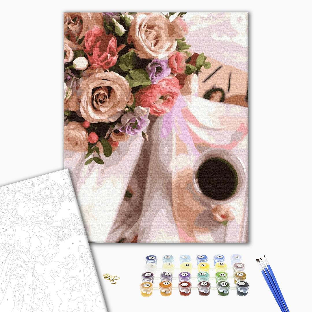 Картина по номерам Цветы - Насыщенный аромат