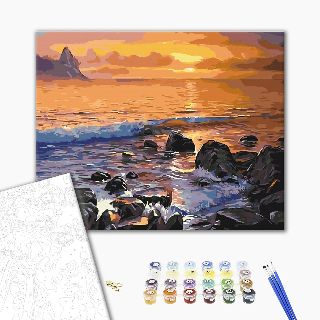 Картина по номерам Природа - Каменистый берег