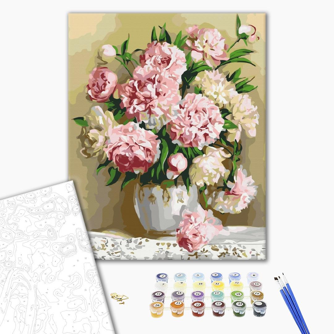 Картина по номерам Цветы - Букет пионов