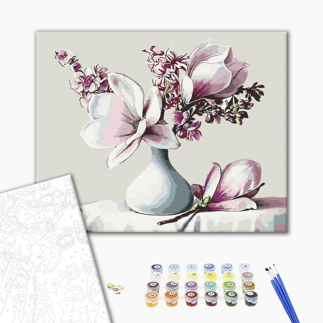 Картина по номерам Цветы - Букет магнолій