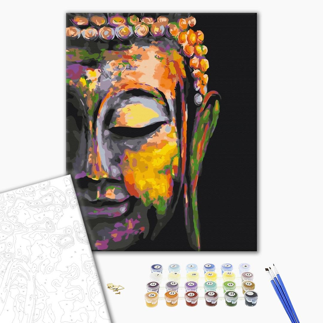 Картина по номерам Люди на картинах - Разноцветный Будда
