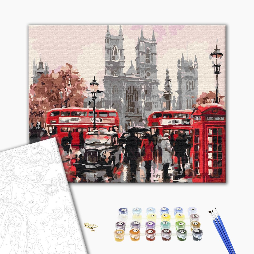 Картина по номерам Города - Дощовий Лондон