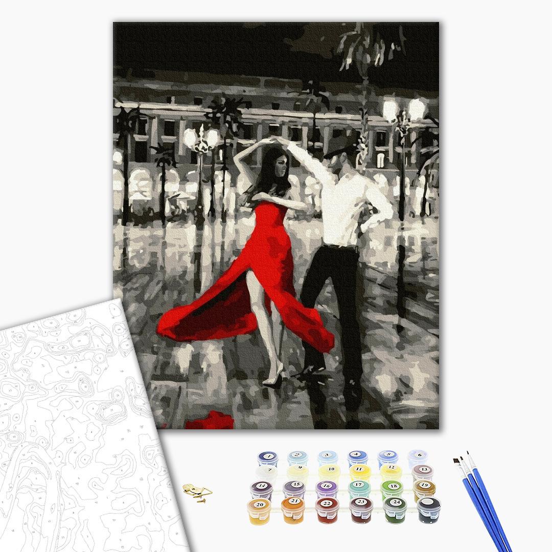 Картина по номерам Романтика - Румба в красном